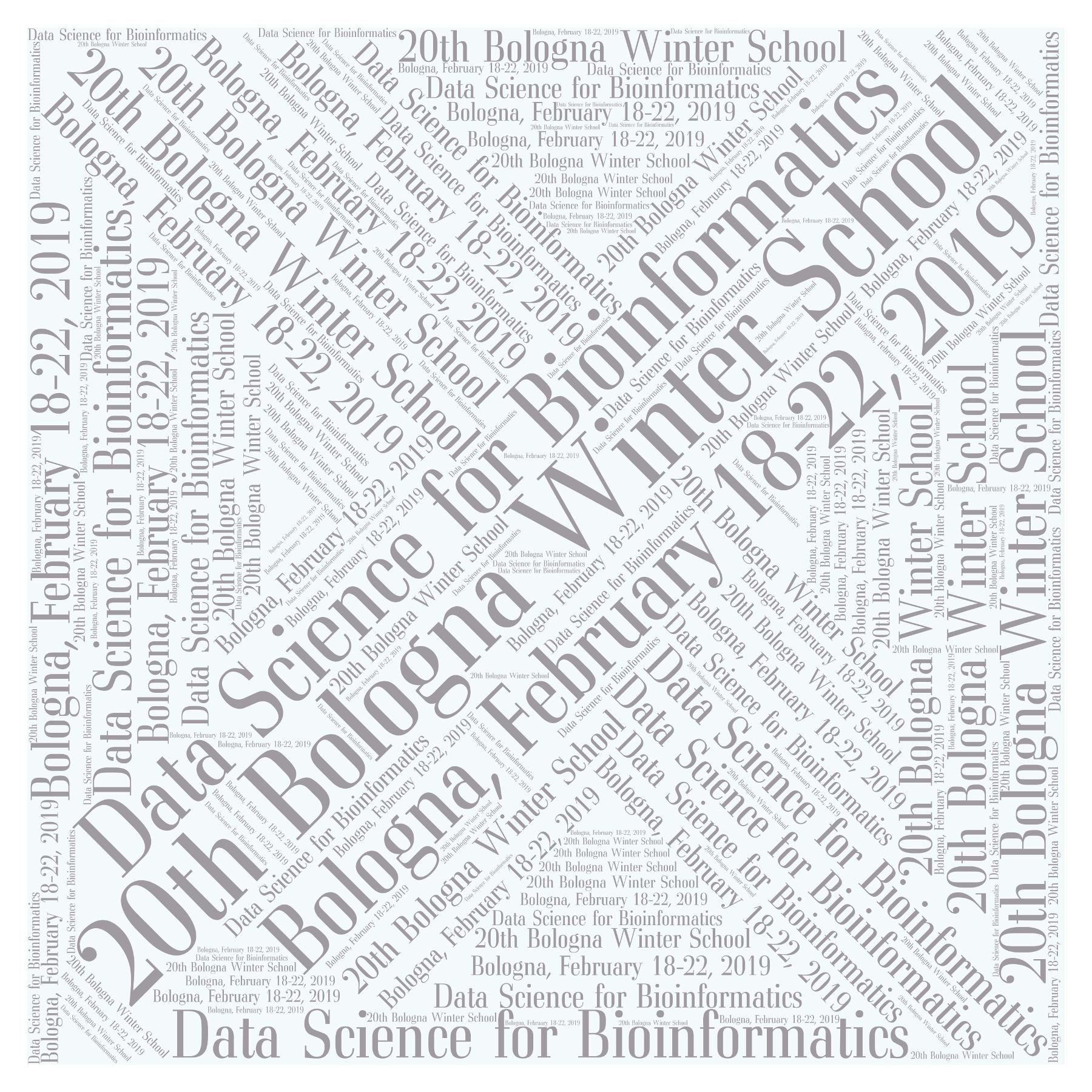 20th Bologna Winter School   Data Science for Bioinformatics